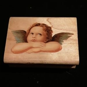Wood Angel Stamp